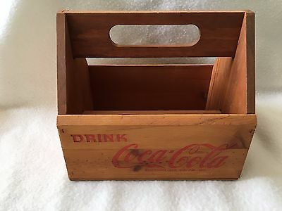 Coca Cola Wooden Crate Carrier Vintage Editions 6 pack Carrying Case