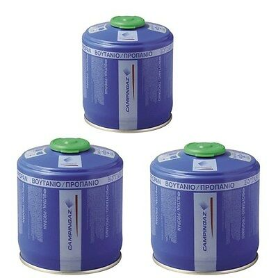3 x Campingaz CV300 CV 300 Plus Lpg Butane Propane Gas Cartridge