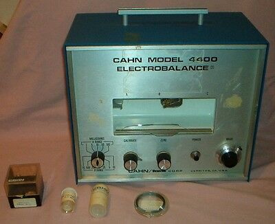 CAHN 4400 ELECTROBALANCE - with Hook & Trays - Tested - Government Surplus