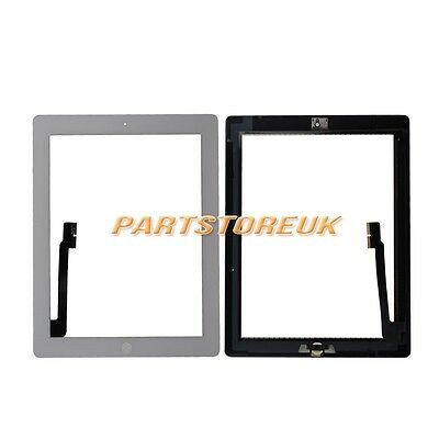 White Touch Screen Digitizer Home Button Flex Cable Ribbon For Apple iPad 3 UK