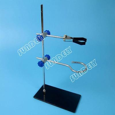 Mini Retort Stands Support Clamp Flask Lab Laboratory Stand Set High Height 29cm