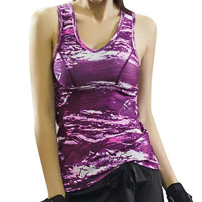 Womens Sexy Back Hollow Workout Tank Top T shirt Gym Running Fitness Yoga Vest