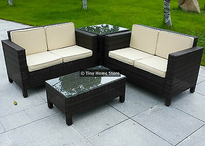 Luxury Rattan Sofa Dining Set Garden Furniture Patio Conservatory Wicker Outdoor