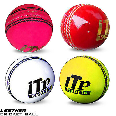 MENS,LADIES Leather Cricket Ball Hard Balls Match Quality Size 4.75 & 5.5 OZ