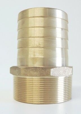 "NEW Hose Barb Brass 65mm 2 1/2"" Male BSP - TOP QUALITY -Tail Fitting"