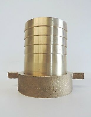 """NEW Hose Nut & Tail Brass 65mm 21/2"""" Fitting Barb Female BSP"""