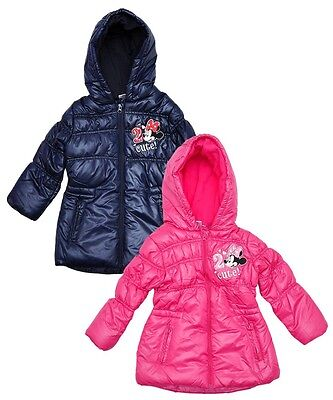Girls Disney Minnie Mouse Padded Coat Pink Or Navy Bnwt From 3 -  8 Years Sale!!