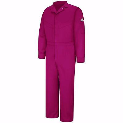Bulwark Flame Resistant Cotton/Nylon ComforTouch Deluxe Coverall 50 Long Red AX