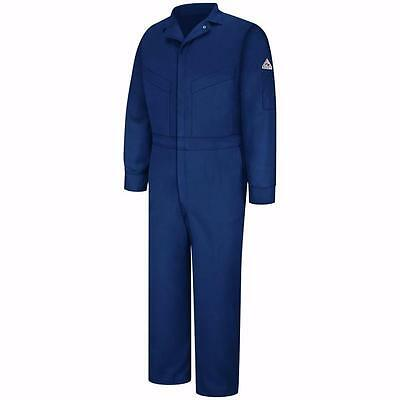 Bulwark Flame Resistant Cotton/Nylon ComforTouch Coverall 52 Reg Dark Navy