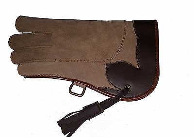 Falconry Glove Double Skinned Nubuck Leather 12 Inches Long 2 Layers (All Sizes)