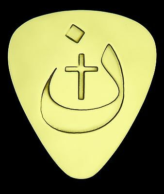 Bass Electric Solid Brass Guitar Pick Acoustic 3 BAR ORTHODOX CROSS