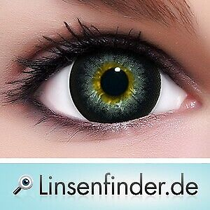 "Circle Lenses ""Barbie Grey"" Coloured Contacts Color Contact Lenses  + Free Case"