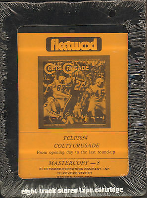 Unopened 8-Track Tape 1969 BALTIMORE COLTS sealed fleetwood 1970 SUPER BOWL WIN