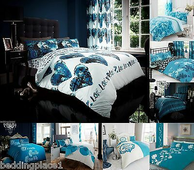 TEAL Duvet Cover with Pillow Case Quilt Cover Set Single Double King & S King