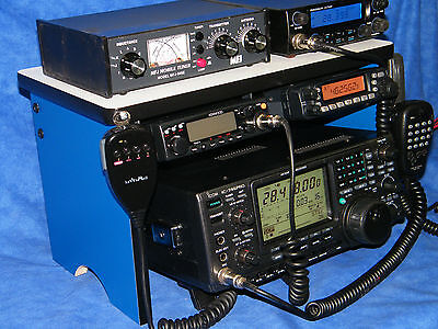 CB Radio Bench Mount Rack Stack or Ham Radio  Amplifier Antenna Mike