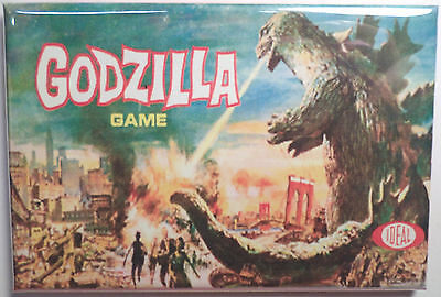"Godzilla Board Game Box 2""x3"" MAGNET Refrigerator Locker Retro"