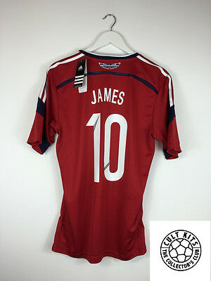 Colombia JAMES #10 *BNWT* 14/15 Away Football Shirt (M) Soccer Jersey World Cup