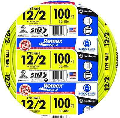 Romex SIMpull 100-ft 12-2 NM-B Gauge Indoor Electrical Non-Metallic Wire Cable