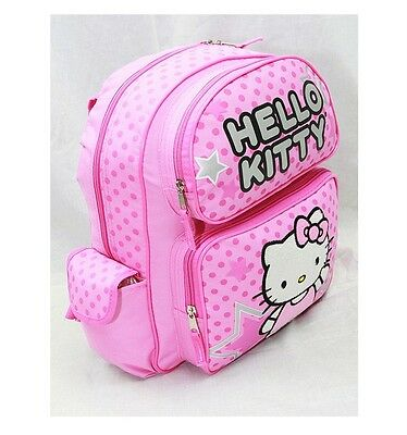 """NWT Sanrio Hello Kitty Large Backpack Bag 16"""" Pink Authentic Licensed by Sanrio"""