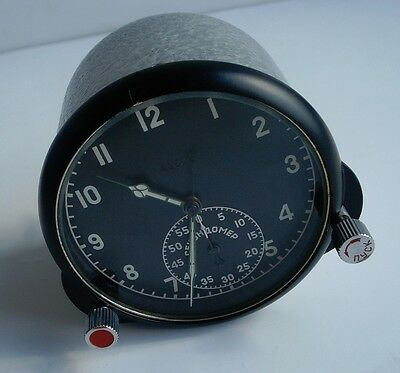 123 Chs Soviet USSR Military AirForce Aircraft Cockpit Clock (Achs) 41502
