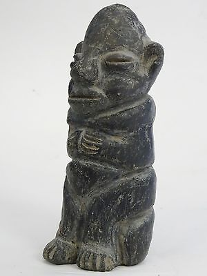 Antique Pre-Columbian Guatemala Seated Shaman Figure