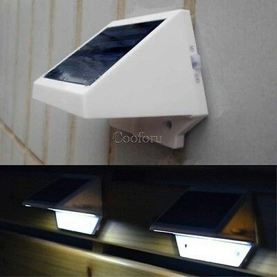 Solar Power Panel 4 LED Fence Light Outdoor Garden Wall Lobby Pathway Lamp CO99