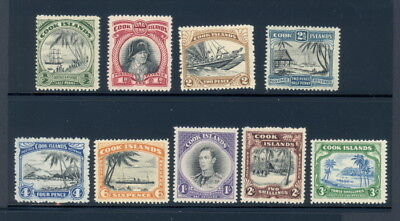 Cook Islands 116 to 124 mh complete set w/multiple N2 & star watermark