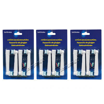 1pack/4 Pcs Electric Tooth Brush Heads Replacement Fit for Braun Oral Bristles