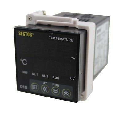Sestos D1S-2R-220 PID Digital Temperature Controller + K Sensor Thermostat 220V