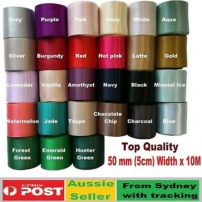 SATIN Wedding Car Ribbon 50 MM X 6 Mtr Double Face FLAT PACKED