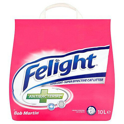 10L Bob Martin Felight Antibacterial Cat Litter - SAME DAY DISPATCH
