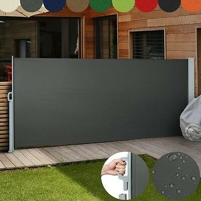 Side Awning Retractable Multicolor Outdoor Wall Canopy Garden Patio Screen Panel