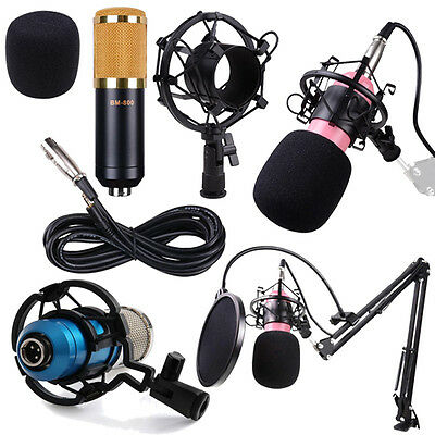 NEW BM800 Condenser Microphone Shock Mount Audio Microphone Sound Studio Dynamic