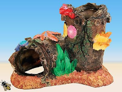 Sunken Pipe Coral Aquarium Ornament Fish Tank Decoration Goldfish Bowl