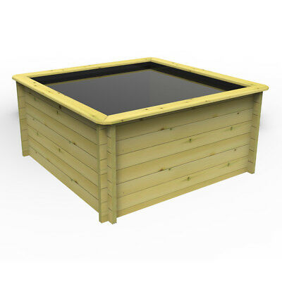 2m x 2m, 44mm Wooden Pond 965mm High