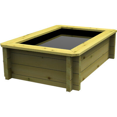 2m x 1m, 44mm Wooden Pond 965mm High