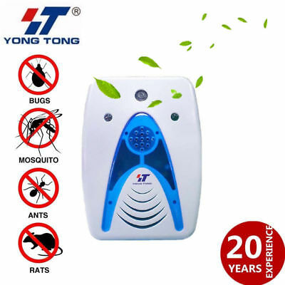 4 in 1 LED Ultrasonic Electromagnetic Wave Pest Rodent Mice Bug Insect Repeller