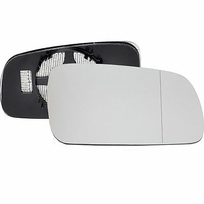 Driver Side HEATED WING DOOR MIRROR GLASS VW Golf MK4 1996-04 Clip On