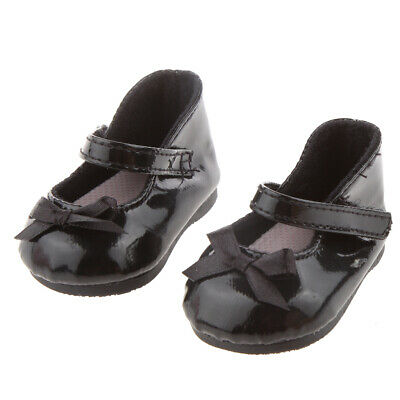 """Pair Black Mary Jane Shoes fit 18"""" American Girl Our Generation Doll Clothes"""