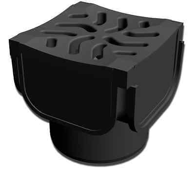 Drainage Channel Heelguard Quadbox for Bends Corners & Tee Junctions Black