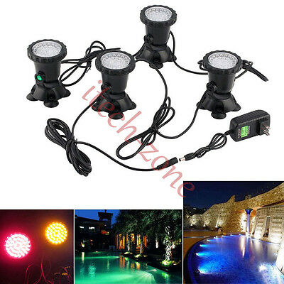 4X Color Changeable 36 LED Underwater Spot Light Garden Pond Pool Party Lighting