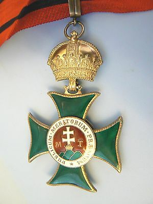 HUNGARY, AUSTRIA EMPIRE, ORDER OF ST STEPHEN, STEFAN, COMMANDER, extremely rare