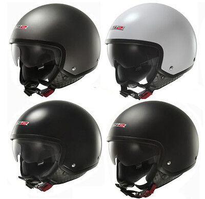 Ls2 Of561 Wave Open Face Scooter Helmet With Drop Down Sun Visor