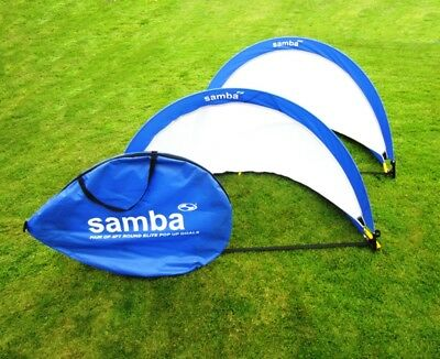 Samba Elite 6ft Pop Up Football Goals - 6ft Size (1 Pair) - NEW Free Delivery