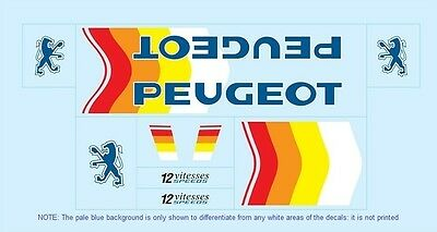 Peugeot Bicycle Decals-Transfers-Stickers #5