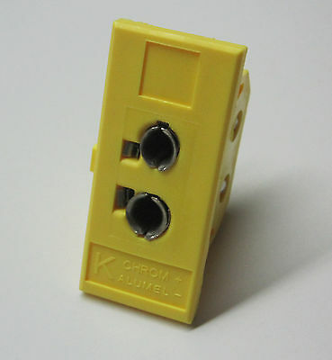 Universal K-type Panel Jack Socket f Miniature & Standard Thermocouple Connector