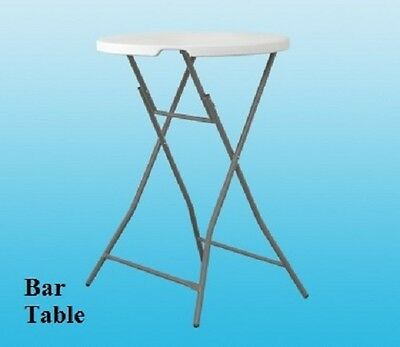 Heavy Duty Folding Table Bar Table Camping Picnic Banquet Party Garden White