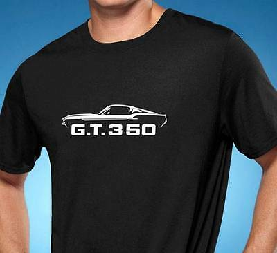 1968 Shelby GT350 Mustang Classic Outline Design Tshirt NEW FREE SHIPPING