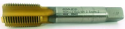 EMUGE Metric Tap M24x2 STRAIGHT FLUTE HSSCO5% M35 HSSE TiN Coated