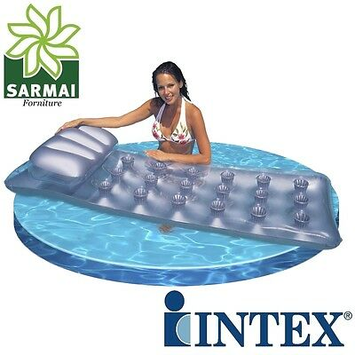 Intex lettino Materasso materassino 18 buchi Pocket gonfiabile mare piscina sole